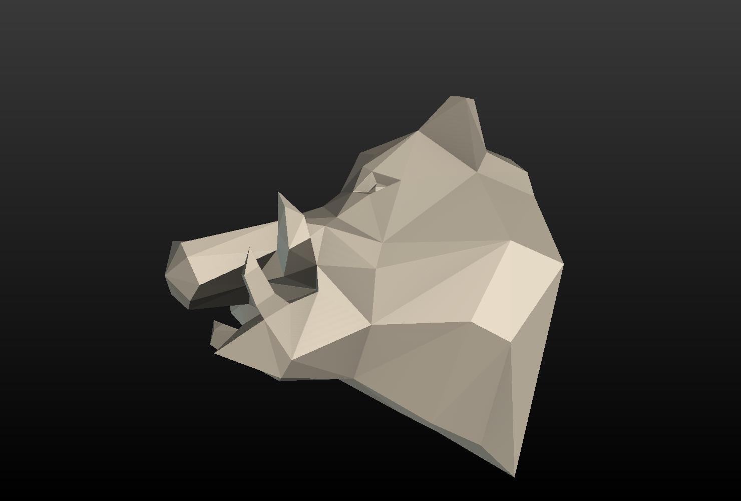 Boars_LP_Head-0011.png Download 3DS file Boar Head Low Poly • 3D print model, Skazok