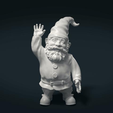 Garden_Gnome-000.png Download STL file Garden Gnome • 3D printing design, Skazok