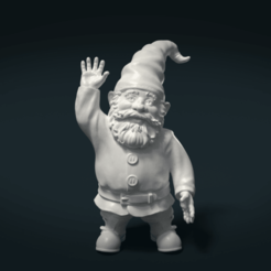 3D printer models Garden Gnome, Skazok