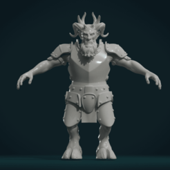 Download 3D printer designs Demon figure II, Skazok