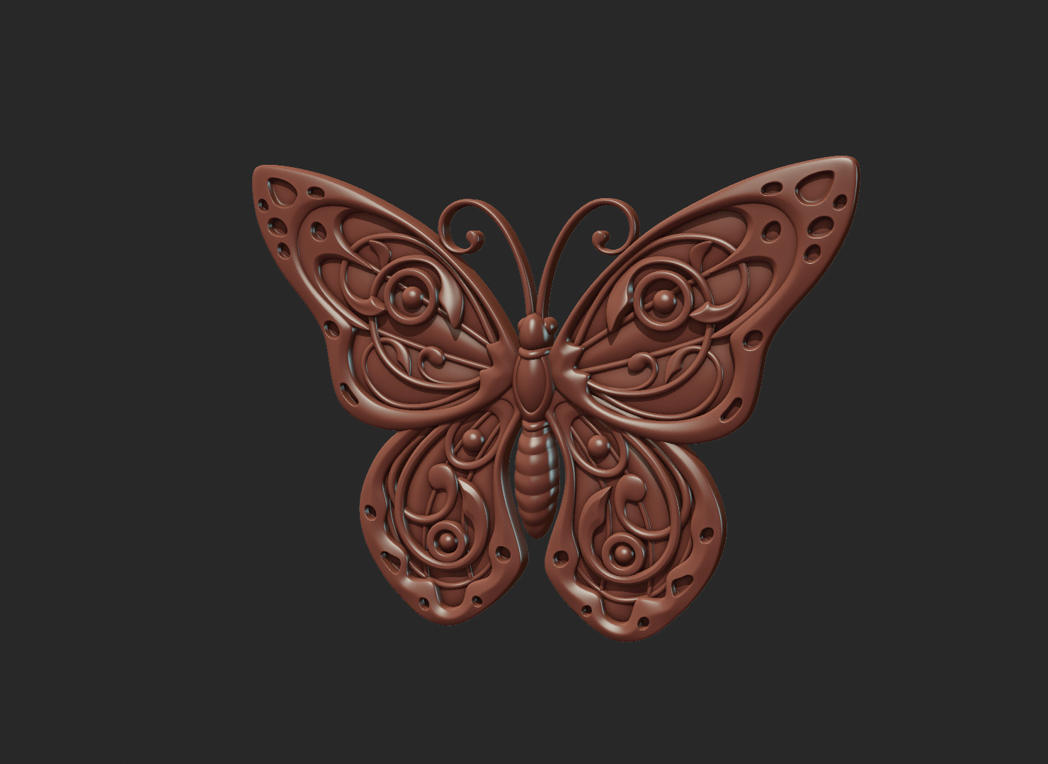 Butterfly_OPGL_28-07.png Download STL file Butterfly relief • Model to 3D print, Skazok