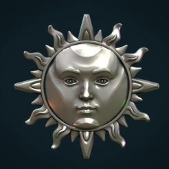 Sun_II-01x.jpg Download STL file Sun Pendant II • Template to 3D print, Skazok