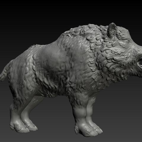 boar-01.png Download STL file Boar • 3D printable design, Skazok