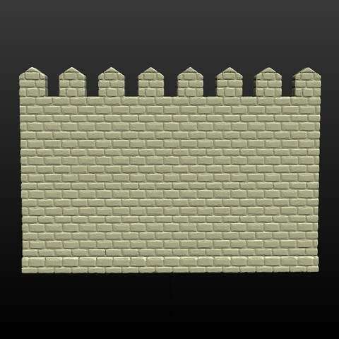 Castle_Wall-002.jpg Download 3DS file Castle wall • 3D printable design, Skazok