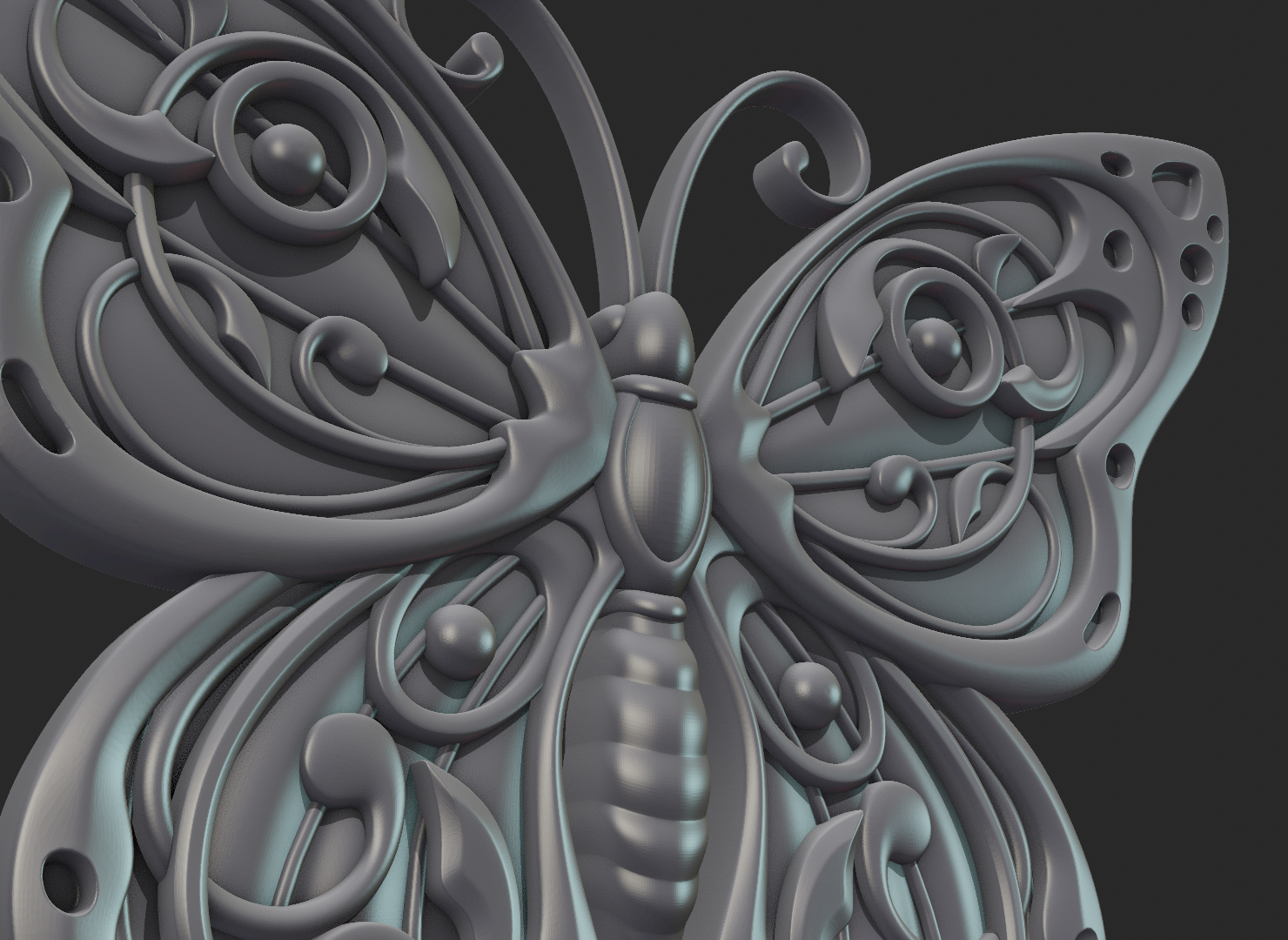 Butterfly_OPGL_28-03.png Download STL file Butterfly relief • Model to 3D print, Skazok