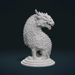 STL file Dragon Bust, Skazok