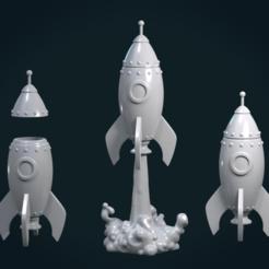 Rocket-01.png Download STL file Cartoon Rocket • Template to 3D print, Skazok