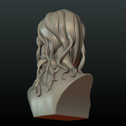 3d Printer Files Woman Head And Hairstyle Cults