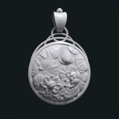 Download 3D printer designs Water Lily Pendant, Skazok