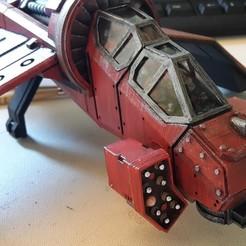 Descargar modelo 3D gratis Cabina de mando y lanzadores de misiles personalizados para Albatross Gunship, Sebtheis