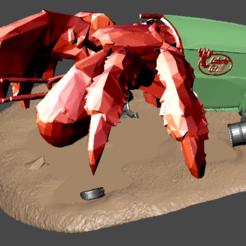 Download free 3D printing templates FWW giant hermit crab, Sebtheis