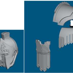 Impresiones 3D gratis Dominion Crusader MK3 piezas de estilo romano (28mm), Sebtheis