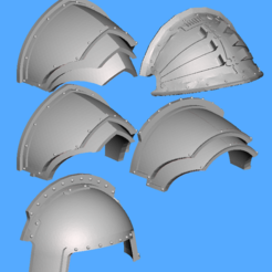 Impresiones 3D gratis Hombreras alternativas Dominion Crusader MK3 (28mm), Sebtheis