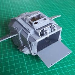 Impresiones 3D gratis Cañonera Blast-Tercel (28mm) - partes traseras, Sebtheis