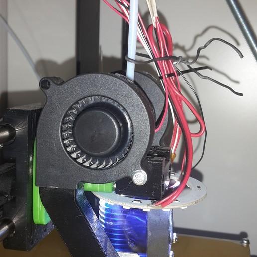20170220_190529.jpg Télécharger fichier STL gratuit E3DV6 chariot bowden de Tech2C double ventilateur radial • Objet imprimable en 3D, Sebtheis