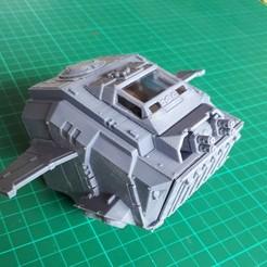 Download free STL file Blast-Tercel Gunship (28mm) - front parts • 3D print design, Sebtheis