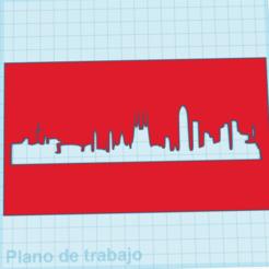 Sin título.png Download STL file 3D Printed BCN Skyline Stencil • 3D printer model, MarcRomero