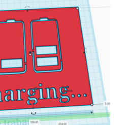 cargando insta.png Download STL file 3D Printed Chargin Stencil • 3D printable model, MarcRomero