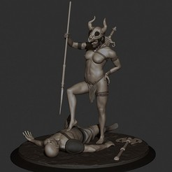 Free 3d model Warrior Woman, al3x