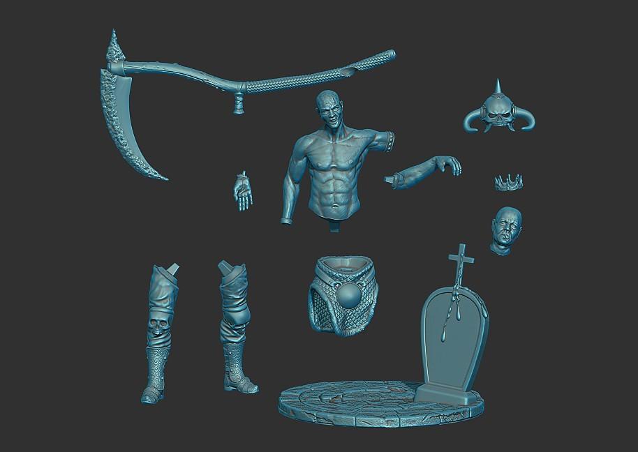 ZBrush Document.jpg Download free STL file Black hunter • 3D printer template, al3x