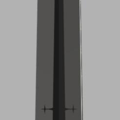 Render-Front.PNG Télécharger fichier STL Trèfle noir Asta Sword Shukuma no Tsurugi - Demon Dweller Sword • Design pour impression 3D, RupertisRed