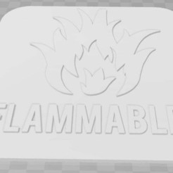 Download free 3D printer designs Flammable Signage, becker2