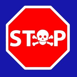Download free STL file STOP SKULL, SIGN • Template to 3D print, becker2