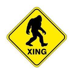 Descargar archivos STL gratis Bigfoot Xing Sign, con colgador incorporado en la espalda, becker2