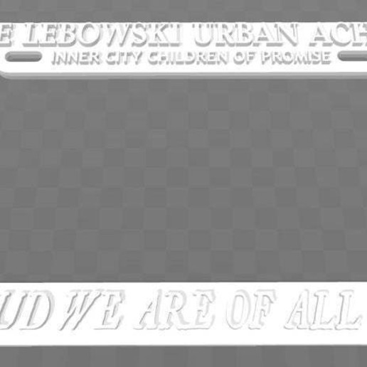 Download free 3D print files Little Lebowski Urban Achiever, License Plate Frame, The Big Lebowski, becker2