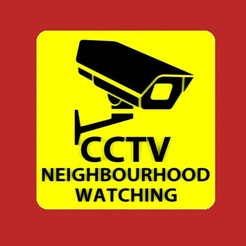 Download free 3D printer templates CCTV NEIGHBOURHOOD WATCHING, sign, becker2