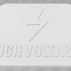 Download free 3D printing templates High Voltage Signage, becker2