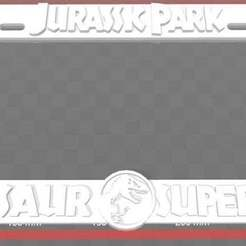 Download free 3D printing models Jurassic Park - Dinosaur Supervisor, License Plate Frame, becker2