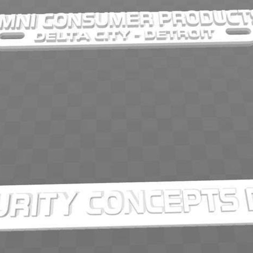 Download free 3D model OCP - Omni Consumer Products, License Plate Frame, Robocop, becker2