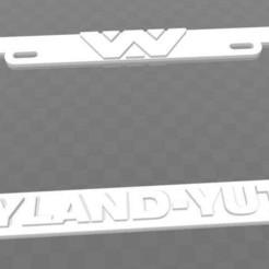 Download free STL files Weyland-Yutani, Aliens, License Plate Frame, becker2