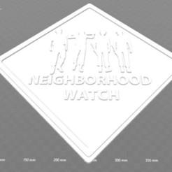 Impresiones 3D gratis Un reloj de vigilancia del vecindario de Orange Clockwork SIgn, becker2