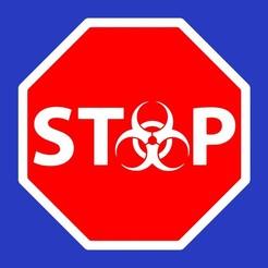 stop_biohazard_sign.jpg Télécharger fichier STL gratuit STOP BIOHAZARD, signez • Design imprimable en 3D, becker2