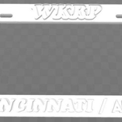 Download free 3D printing files WKRP - In Cincinnati, License Plate Frame, becker2