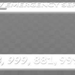 Download free STL file New Emergency Service, License Plate Frame, The IT Crowd, becker2