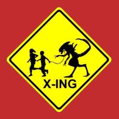 Download free STL Child Crossing (X-ing) Sign, becker2