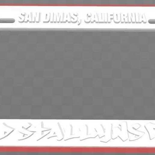 Download free 3D model Wyld Stallyns Rule - San Dimas California, License Plate Frame, Bill and Ted, becker2