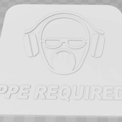 Download free 3D printing models PPE Required Signage, becker2