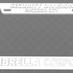 Télécharger modèle 3D gratuit Umbrella Corporation - Division de la sécurité, Raccoon City, cadre de plaque d'immatriculation, Resident Evil, becker2
