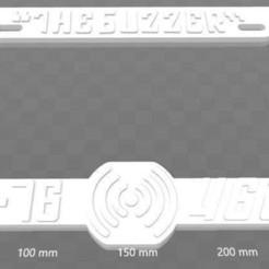 "Download free 3D printing models UVB-76 ""The Buzzer"" License Plate Frame, Cold War Era, 2 Frames, becker2"