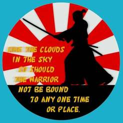 Download free STL LIKE THE CLOUDS IN THE SKY SO SHOULD THE WARRIOR NOT BE BOUND TO ANY ONE TIME OR PLACE, becker2