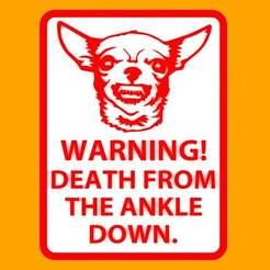 Descargar STL gratis Advertencia - Muerte desde el tobillo hacia abajo, signo, becker2