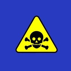 skull_warning.jpg Download free STL file SKULL WARNING sign • 3D printer design, becker2