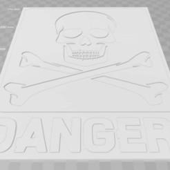 Descargar modelo 3D gratis ¡Calavera, Peligro!, firma, becker2