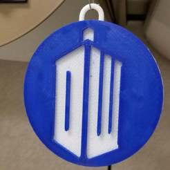 Download free STL files Doctor Who Ornament - St John Ambulance and DW Logo, becker2