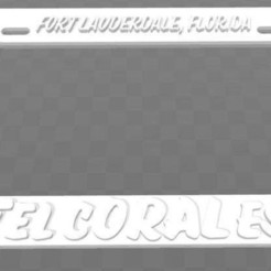 Download free STL file Hotel Coral Essex - Fort Lauderdale, Florida, License Plate Frame, becker2