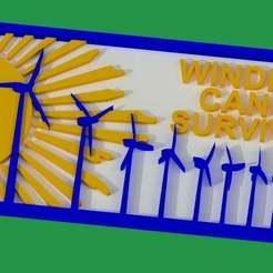 Download free 3D printer templates Windmill Cancer Survivor Sign, becker2